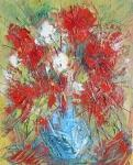Červená kytice ve váze / Red Bouquet in a Vase