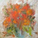 Oranžová kytička / Orange flowers