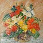 Květiny v košíčku