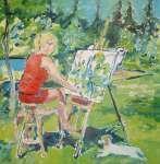 Autoportrét v zahradě (Pikovice)