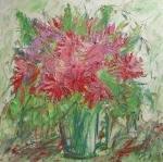 Kytice růžových chryzantém