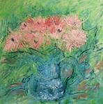 Gerbery v modré váze / Bouquet in blue vase