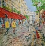Jaro na Place du Tertre (Montmartre Paříž)/ Square painters Paris