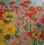 Záhon květin / Bed of flowers