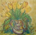 Jarní kytice žlutých tulipánů / Spring bouquet