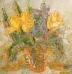 Tři žluté tulipány