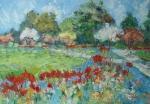 Pomněnkové záhony (Fussing - Německo) / Flowerbeds of Forget-me-not (Fussing - Germany)
