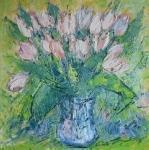 Romantická kytice bílých tulipánů/Romantic bouquet of white tulips