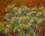 Trávy a žluté květy
