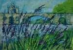 Záhon levandule u Avignonu