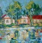 Náves s rybníkem