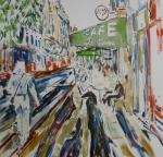 Ulice Abbesses / Rue des Abbesses /Street Abbesses Paris