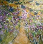 Fialové květy podél cesty /  Purple flowers along the way