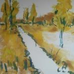 Skica k obrazu Blatský potok (jižní Čechy) / Sketch for the painting Creek Blatsky
